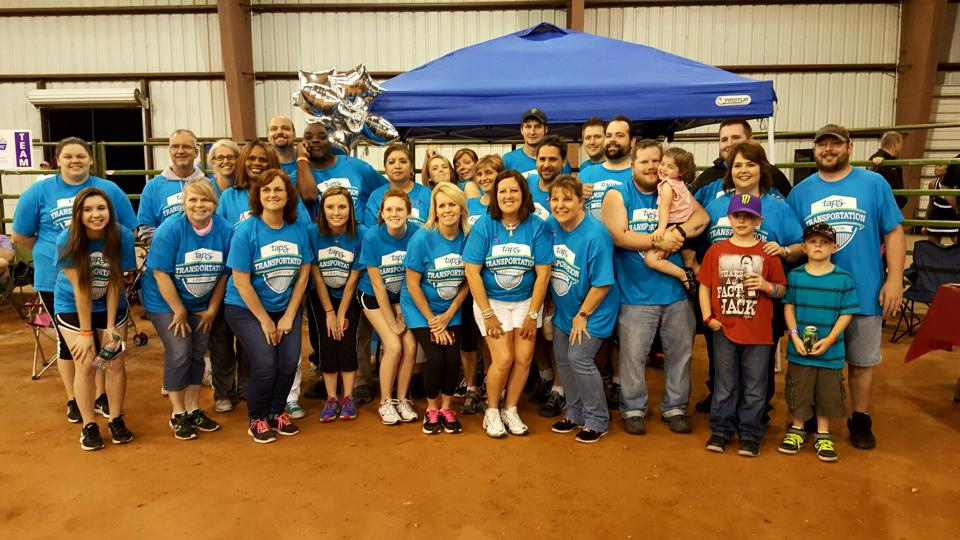 Members of TAPS Public Transit Transportation League team at Relay for Life Walk in Denison on May 8.