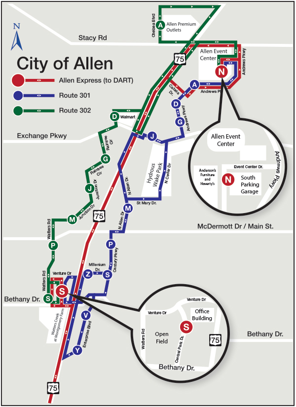 The Allen Route Map