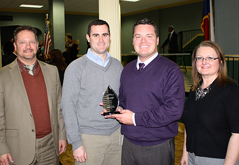 (L-R) TAPS COO Tim Patton, board member Ryan Johnson, CEO Brad Underwood, and CFO Teresa Foster.