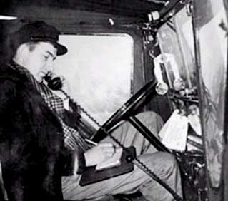 By 1946, several companies were using mobile 2-way radios. This Chicago truck driver checking in with dispatch about a delivery change.