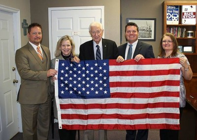 (L-R) TAPS COO, Tim Patton; TAPS Community Relations Mgr, Barbara Reeves; Congressman Ralph Hall; TAPS CEO Brad Underwood; and TAPS CFO, Teresa Foster.
